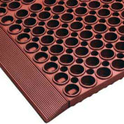"""NoTrax® San-Eze® II Drainage Mat, 7/8"""" Thick, 39"""" x 39"""", Red"""