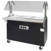 "Portable Buffet Table, Electric, (3) 12"" x 20"" Wells, 120V, Solid Base"