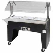 Portable Buffet Table, Ice Cooled, (3) Pan Size, Open Base, Black