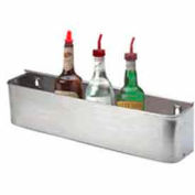 "Bottle Rack, 22"", Single Tier Keyhole, S/S"