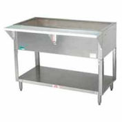 "Coldpan Table, 47.125""L 3-Pan Size, S/S Open Base w/Undershelf"