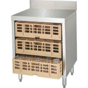 """Advance Tabco CRCR-24, Flat  Top Closed Glass Rack, 24""""Wx21""""Dx33""""H,  Stainless Steel"""