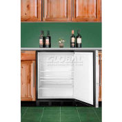 Summit AL752BKBIFR ADA Comp Built in Undercounter Refrigerator 5.5 Cu. Ft. Black