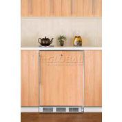 Summit CT66LBIFRADA - ADA Comp Built-In Refrigerator-Freezer, Lock, White, S/S Door Frame