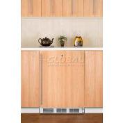 Summit CT66LBIIFADA - ADA Comp Built-In Refrigerator-Freezer, Lock, Three Glass Shelves, White
