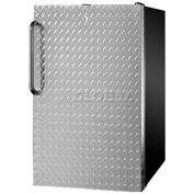 "Summit FF521BLBI7DPL - 20""W Built-In Undercounter All-Refrigerator, Lock, Diamond Plate Door, BK"