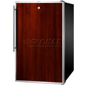 "Summit FF521BLBI7FRADA - ADA Comp 20""W Built-In Undercounter All-Refrigerator, Lock, S/S Door Frame"