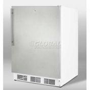 """Summit FF6BKBI7FR - Built-In Undercounter All-Refrigerator, BK, SS Door Frame To Accept Custom Pane"
