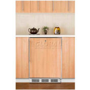 "Summit FF7LBIFRADA - 32""H All-Refrigerator For Built-In Under ADA Comp Counters, Lock, SS Door Frame"