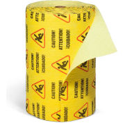 """SpillTech YRZ300M Universal Heavy Weight Caution Mat Roll, 300'L x 30""""W, Yellow, 1 Roll"""