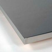 """Surface de travail TRESTON, #4 Gage 16 brossé enveloppé & poli à coins, PB Core, 96"""" W X 36 «D X 1-1/2"""" H"""