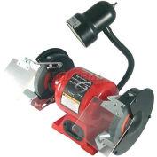 """Sunex Tools 5001A 6"""" 1/2 HP 3450 RPM  Bench Grinder W/ Light"""