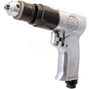 "Sunex Tools SX223, 3/8"" Pistol Air Drill, 0.35 HP, 1800 RPM, 4 CFM, Reversible, 90 PSI"