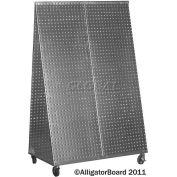 Pegboard Tool Cart - Galvanized 48 x 32