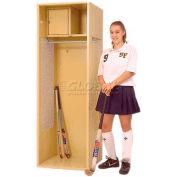 "Penco 6KFD11-848 Stadium® Locker With Shelf & Security Box,24""Wx18""Dx72""H, White, Unassembled"