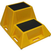 "Industrial Step Stand 28""W x 36""D x 20""H - 2 Step - Yellow"