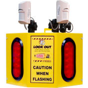 Collision Awareness Forklift Sensor, Look Out 3 Model, 1 Box, 3 Sensors, 2 Lights, 25' Cord