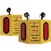 Collision Awareness Overhead Forklift Door Monitor, 2 Boxes, 3 Sensors, 3 Lights, 15' Cord