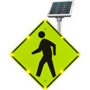 "Tapco® 2180-00214 BlinkerSign® Flashing LED Pedestrian Crossing Sign W11-2, 30""W, Solar"