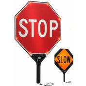 "TAPCO® 2180-00322 STOP/lent BlinkerPaddle® clignotant LED Paddle, 18"" W x 24"" H"