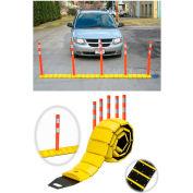 Tapco® 3192-00003 Traffic Guard Portable Speed Bump with Delineators and Reflectors, 10'L