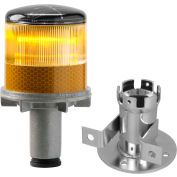 Tapco® 3337-00002 Solar Powered LED Strobe Lights, Amber Bulb