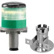 3337-00005 Lumières stroboscopiques à LED alimentées à l'énergie solaire, ampoule verte