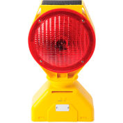 5785445 Individual Solar LED Barricade Light, Red, 3-Way On/Off Switch