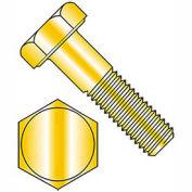 Hex Head Cap Screw - M6 x 1.0 x 12mm - Steel - Zinc Yellow - Class 10.9 - DIN 933 - Pkg of 25