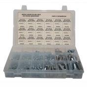 250 pièces Metric Hex Head Cap Screw Assortiment - M4 à M12 - Grade 8,8 - Acier - Zinc