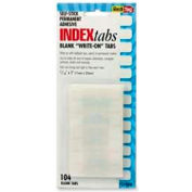 """Redi-Tag® Permanent Write-On Index Tabs, 7/16"""" x 1"""", White, 104 Tabs/Pack"""