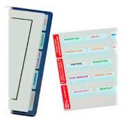 "Redi-Tag® imprimable Laser comprimés, 2 ""x 7/8"", blanc, 300 Tabs/Pack"