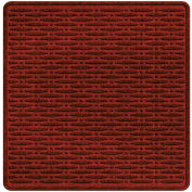 """Waterhog Cargo Mats with Traction Pattern, 36"""" x 35"""", Red/Black - 3906550003070"""
