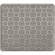 "Waterhog Cargo Mats with PawPrint Pattern, 31"" x 27"", Medium Gray - 3907570003070"