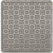 "Waterhog Cargo Mats with PawPrint Pattern, 36"" x 35"", Medium Gray - 3908570003070"