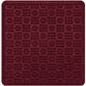 "Waterhog Cargo Mats with PawPrint Pattern, 36"" x 35"", Bordeaux - 3908600003070"