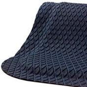 "Hog Heaven® Anti Fatigue Mat Fashion Border 5/8"" Thick 3' x 12' Black"