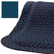 """Hog Heaven® Anti Fatigue Mat Fashion Border 7/8"""" Thick 3' x 12' Blue"""