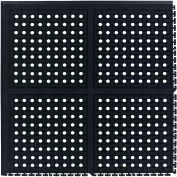 "Comfort Flow™ HD Modular Anti-Fatigue Tile, Corner, 3/4"" Thick, 37-3/8"" x 37-3/8"", Black"