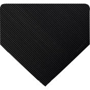 Wearwell Heavy Duty Corrugated Runner Black, 1/4in x 3ft x 75ft Full Roll