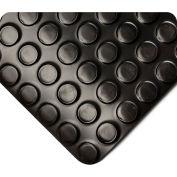 Wearwell Radial Runner Black, 1/8in x 4ft x 50ft Full Roll