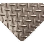 Wearwell Diamond-Plate Runner Gray, 3/16in x 2ft x 75ft Full Roll