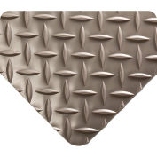 Wearwell Diamond-Plate Runner Gray, 3/16in x 4ft x 75ft Full Roll