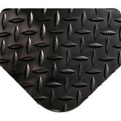 "Wearwell 414 Diamond Plate Diamond Plate Ergonomic Mat 24"" X 75' X 15/16"" Black/None"
