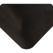 Wearwell Corrugated SpongeCote, Black, 1/2in x 2ft x 75ft Full Roll