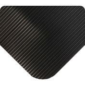 Wearwell ComfortPro Beveled Black, 1/2in x 3ft x 75ft Full Roll