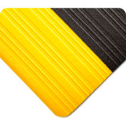 Wearwell Deluxe Tuf Sponge Black w/Yellow Borders, 5/8in x 2ft x 60ft Full Roll