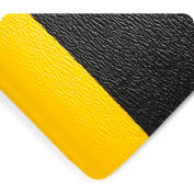 Wearwell Deluxe Soft Step Black w/Yellow Borders, 5/8in x 3ft x 5ft