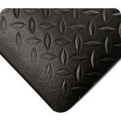 Wearwell Diamond Tuf Sponge Black, 1/2in x 4ft x 60ft Full Roll