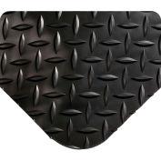 """Wearwell® Diamond-Plate Select Anti Fatgue Mat 9/16"""" Thick 2' x 3' Black"""